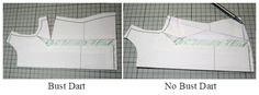 Removing Bust darts from a pattern - MariaDenmark Sewing