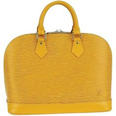 Pre-owned Louis Vuitton Alma (best Price) Yellow Satchel ($796) ❤ liked on Polyvore featuring bags, handbags and yellow
