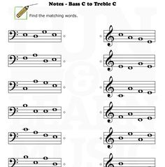 Worksheets Treble Clef Notes Worksheet treble clef notes worksheet bing images recorder pinterest on note reading for music students bass worksheets
