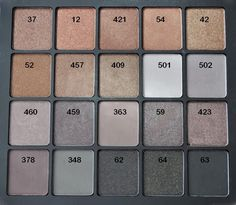 The Polish Jinx: INGLOT Freedom System Eyeshadow Swatches - Only 140 Of Them!