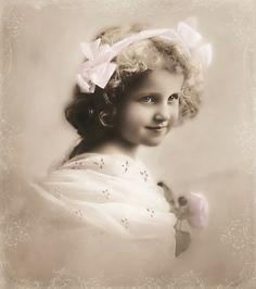 portrait of little Edwardian girl..
