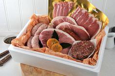 The Kernow Sausage Company multi award winning product range.  Buy produce baskets online at http://www.kernowsausages.com