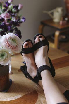 PEDRO GARCIA | Xabell Satin Sandalets | Minimal Nordic Birkenstock Mayari, Black Silk, Black Sandals, Bag Making, Block Heels, Minimal, Satin, Leather, How To Wear