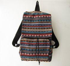 tribal backpack,hipster rucksack backpack, boho shoulder bag rucksack , ethnic school bag, christmas gift, holiday gift idea