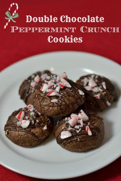 Double Chocolate Peppermint Crunch Cookies from Chew Nibble Nosh # ...