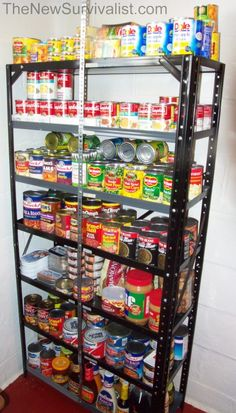 Stash of canned foods--survivalist list