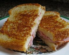 What is it: A melted ham and cheese sandwich usually on white bread.Tastes like: A grilled cheese with ham.Conclusion: Step aside, regular grilled cheese.It's grilled cheese with ham, you don't need a recipe.