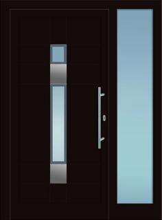 Fenster außenansicht  Marbella mit Holz-Applikationen - Pieno® Eingangstüren / doors ...