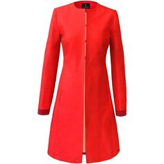 Tallulah Coat ❤ liked on Polyvore featuring outerwear, coats, summer coat, fitted coat and red coat