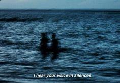 I hear your voice... in silences.  . ¨`*•.¸  pinterest & instagram - @ninabubblygum  ¸.•*´¨