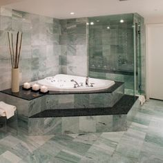 Love the idea of a nice big bath tub to relax in and the big shower too