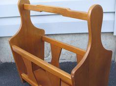Mid Century Modern Wooden Magazine Rack Milbern Creations Walnut