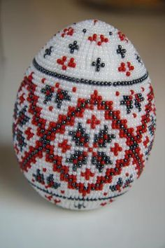 .Beautiful beaded Egg