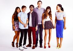 #Monchele with Jenna, Kevin, Darren and Naya at Comic-Con