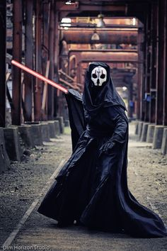 Darth Nihilus - Sith Lord, Star Wars: The Old Republic   Costume by Paige Gardner of CostumeArt   Photography by Dim Horizon Studio at Sloss Furnaces in Birmingham AL #StarWars #Cosplay #Sith