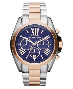 My latest purchase -Michael Kors Women's Chronograph Bradshaw Two Tone Stainless Steel Bracelet Watch