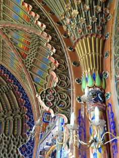 Sammezzano,  interior details; all designed by the Marquis