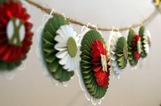 Victorian style paper garland