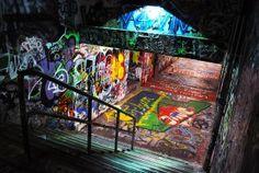 to graffiti (legally) the walls in Sydney, Australia Graffiti Photography, Street Art Photography, Night Aesthetic, Travel Aesthetic, Underground Club, Casual Art, Neon Nights, Skate Park, Street Art Graffiti
