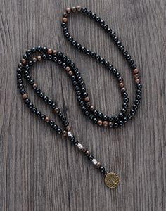 Cheap men necklace, Buy Quality men jewelry directly from China wooden jewelry Suppliers: Men Necklace Quality 6MM Black Agate Wood Beads with Tree Pendant Mens Rosary Necklace Wooden Beads Mens jewelry