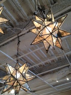 moravian stars.... Would love these on a patio or screened in porch