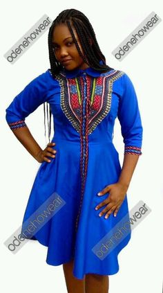 Odeneho Wear Ladies Polished Cotton Dress/Dashiki Design. African Clothing.  | Clothing, Shoes & Accessories, Cultural & Ethnic Clothing, Africa | eBay!