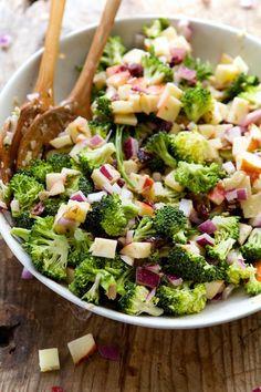 Raw broccoli chopped salad