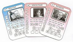 Family Trading Cards: Displaying Your Family History