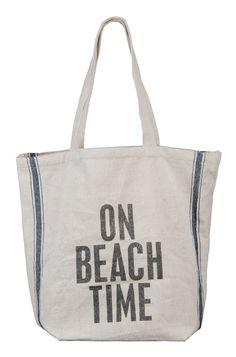 On Beach Time Beach Bag