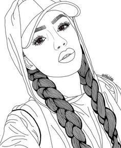 New beautiful art drawings sketches pens ideas Tumblr Girl Drawing, Tumblr Sketches, Tumblr Drawings, Girl Drawing Sketches, Art Drawings Sketches Simple, Girly Drawings, Art Drawings Beautiful, Outline Drawings, Pencil Art Drawings