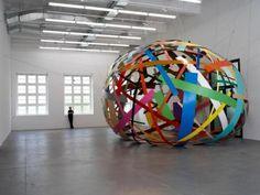 Giant Metal Confetti Installation