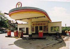 Remants of East German (DDR) fuel station.