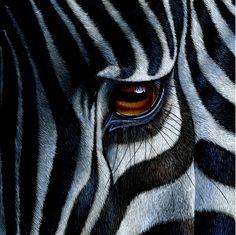 "Saatchi Art Artist Jürek Zamoyski; Painting, ""Zebra"" #art"