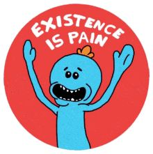 Existence is Pain Small Stickers Meme Stickers, Tumblr Stickers, Cool Stickers, Printable Stickers, Laptop Stickers, Rick And Morty Stickers, Aesthetic Stickers, Sticker Design, Collage