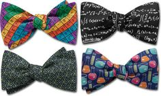 "Treat your favorite scientist to these four popular science-themed ties - Mad Scientist, Elements, Beaker and Matter. All are freestyle slim lines, and fit neck sizes from 15.5"" to 17.5"". Save 20% off the individual tie prices when you choose the entire collection. $125 Handcrafted quality bow ties and neckties, and traditional men's apparel from Vermont. www.BeauTiesLtd.com"