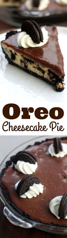 Pinterest Food and Drink!: Oreo Cheesecake Pie