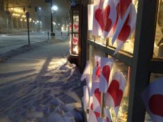 The story behind the heart phantom in Montpelier Vt. Every year someone plasters the town in hearts.