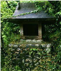 Here's a hidden stone wishing well. Ewishingwell Loves Pictures of Wishing Wells.
