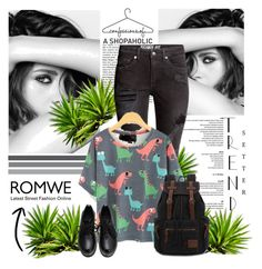 """""""Romwe"""" by merima-k ❤ liked on Polyvore featuring Chanel"""