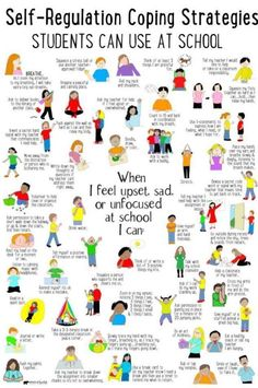 What's Included: ✔ 50 Self-Regulation Coping Strategies Students Can Use at School poster ✔ Checklist to identity coping skills ✔ Spinner Craft ✔ Task Cards perfect to use in your Calm Down Corner, Zen Zone, Peace Center area. Counseling Activities, Elementary Counseling, Group Counseling, Elementary School Counseling, School Counselor Organization, School Readiness, Elementary Schools, School Social Work, Social Emotional Learning