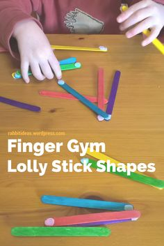 Blog post- Fine motor activity, Finger gym, lolly stick shapes. Maths Eyfs, Eyfs Activities, Motor Skills Activities, Infant Activities, Shape Activities, Numeracy, Early Years Maths, Finger Gym, Fine Motor Skills Development