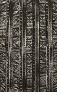Bogolanfini textile from Mali: i want this by my entryway Ethnic Patterns, Textile Patterns, Print Patterns, African Textiles, African Fabric, Textile Texture, Textile Art, African Masks, African Art