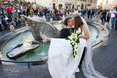 Anthony and Zena at the Spanish Steps