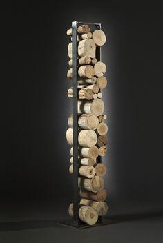 sculpture tronc rondin bois flotté