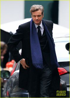 Colin Firth Films 'Bridget Jones's Baby' on Thursday in London England – First Look Photos! (October 8, 2015)