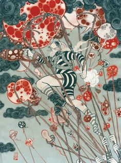 Yuko Shimizu: Ukiyo-e del nuevo siglo Yuko Shimizu, New York City, School Of Visual Arts, Ligne Claire, Japanese Artists, Illustrations And Posters, Art World, Art Inspo, Fantasy Art