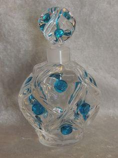 RARE Lalique Floride Pattern Crystal Perfume Bottle 1956 Design | eBay