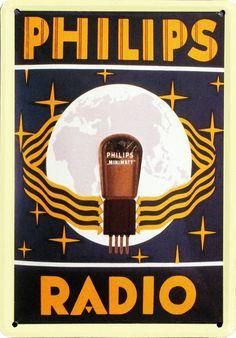 vintage Philips Radio advertisement