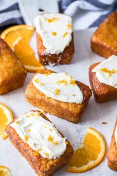 This Mini Flourless Ginger Orange Cake Recipe is bursting with fresh orange flavour and a subtle hint of ginger. They're easy to make, and perfectly portioned individual mini orange cakes. World Cuisine Orange Recipes, Almond Recipes, Sweet Recipes, Baking Recipes, Cake Recipes, Dessert Recipes, Flourless Orange Cake, Flourless Cake, Whole Orange Cake