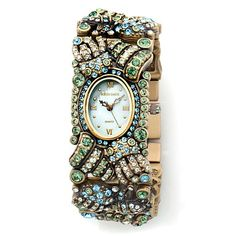 "Heidi Daus ""Spring Bling"" Crystal Bracelet Watch"